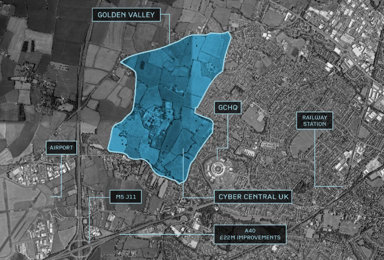 Map of The Golden Valley site Cheltenham
