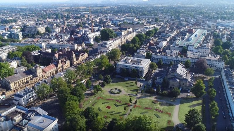 Cheltenham aerial shot