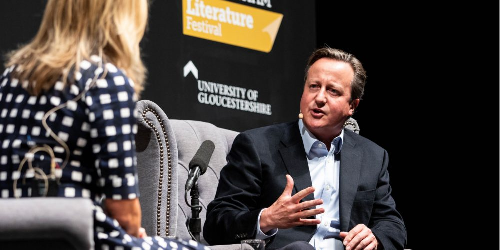 David Cameron at Cheltenham Literature Festival 2019